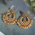 Gold Indian Bollywood Traditional Handcrafted Bridal Wedding Peal Jhumki Earring