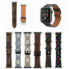 For Apple Watch Band Luxury Brand Design iWatch Leather Sport Strap 38/40/44mm