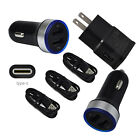 For ZTE Zmax Pro Blade X A3Y Max Z981 XL Phone Wall Car Charger USB-C Cable Cord