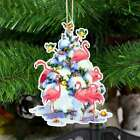 Flamingo Christmas snow tree Shape Ornament Gift for you, gift for him, gift for