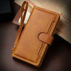 For iPhone 12 Mini 11 Pro Max XS XR 8 Case Leather Wallet with Strap Card Cover