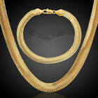 Stunning 18k Gold Plated Snake Scales Chain Solid Link Necklace Mens Women Au