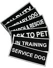 Patches for Harness Service Dog In Training Police K9