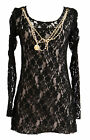 Yumi Bertie Long Rouched Sleeve Lace Dress - BRAND NEW