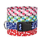 Nylon Dog Collar Pooch Bone Paw Print or Argyle Design Casual Canine Collars NEW