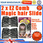 2 Packs Magic Hair Slide Ez Combs Stretchy Clip
