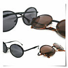 New Hot Round Style Retro Vintage Made in ltaly Sunglasses Free Hard Case
