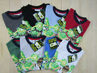 100% COTTON BEN 10 T-SHIRTS / TOPS AGES 5 - 12