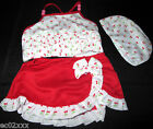 3 Part Girls Bikini Frilly Skirt Top & Hat 2-6 Years BN