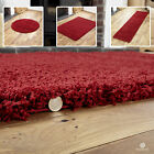 LARGE*MEDIUM*SMALL  MODERN NEW DESIGN RED HIGH PILE THICK SOFT  SHAGGY RUGS