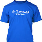 FOLLOW ME - TWITTER Personalised Mens T-Shirt - S - XXL
