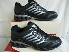 MENS BLACK & SILVER  LACE UP AIR TECH CASUAL  TRAINERS ECLIPSE