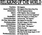 Custom Rude Funny Religions Joke Print, Pick Your Color & Size T-Shirt S-5X