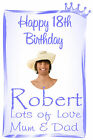 PERSONALISED BIRTHDAY PHOTO BTL LABEL WINE SPIRIT BL34