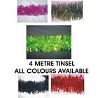1 X 4 METRE CHUNKY/FINE CHRISTMAS/ DECORATION TINSEL- ALL COLOURS AVAILABLE