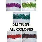 1 X 2 METRE CHUNKY/FINE CHRISTMAS/ FASHION TINSEL- ALL COLOURS AVAILABLE