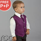 BABY BOYS CADBURYS PURPLE WEDDING PAGEBOY COMMUNION SUIT AGE 0 MONTHS - 14 YEARS