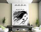 Flower / Roses Hair Girl amazing wall stickers vinyl decal highest quality UK