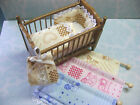 Dolls House Nursery Set - Window Blind with Matching Cot / Bed Set - 1/12th