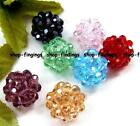 round globe shape 14mm glass quartz faceted Beads 1pcs multicolor high quality