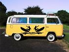 WALL ART CAMPER VAN SURFER  2 x SURFERS DECAL GRAPHIC STICKER VARIOUS SIZES
