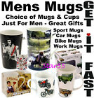 Fishing Cricket Football Horses Fun Funny Hobby Gifts Boxed CUPS MUGS FOR MEN