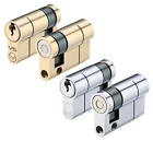 Single Euro Profile Garage Door Lock 1/2 Cylinder Replacement Barrell Eurospec