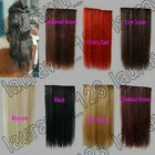 """20"""" Long Straight 5 Clips On Hair Piece Extension 50cm All Color Free Shipping"""