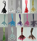 New Organza Key  Beaded Tassel Available in 14 Different Colors