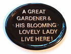 Personalised  Size 4 Gardener,any message ,funny sign ,garden sign ,Home Bar