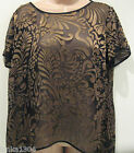 M&S Gold embossed Black Party Tunic Top blouse (NEW) Diff Sizes-£29.50