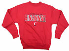 CINCINNATI BEARCATS ADULT RED EMBROIDERED V-NOTCH CREW SWEATSHIRT NWT