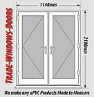 WHITE UPVC FRENCH DOOR SET - NEW, MADE TO MEASURE #028