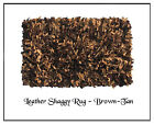 Leather Shaggy Rug 5'X8' Area Rug - Available in 7 colors