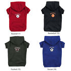 Zack & Zoey Dog Sports Hoodie Basketball, Football, Baseball, Soccer Pet Shirt