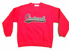 CINCINNATI BEARCATS YOUTH RED EMBROIDERED CREW SWEATSHIRT NEW