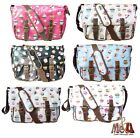 Authentic LYDC Ladies Oilcloth Cupcake Saddle/Cross Body/Messenger Bag