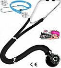 STETHOSCOPE DUAL HEAD SPRAGUE STYLE DOCTOR NURSE.MATCHING COLOUR DIAPHRAGMS