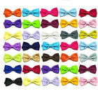 NEW Bow Tie Dickie Bow Bowties Pre-Tied Many Colours For Weddings Fancy Dress