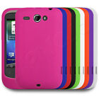 Soft Silicone Cover Case Skin Grip Fits HTC Wildfire Phone - Assorted Colours