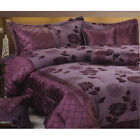 7PC KING DOUBLE SIZE BED DUVET COVER SET SPREAD SHEET OBLONG NECK CUSHION PILLOW