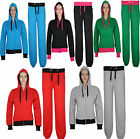 Womens Ladies Hooded APPAREL PLAIN Jogger Tracksuit Top Bottom Size S M L XL