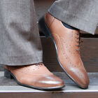 BELIVUS BEST COLLECTION REAL BUFFALO LEATHER WINGTIP HANDMADE MEN'S SHOES/BS023
