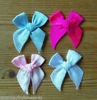 Ribbon Bow - plain - 3 cm - Topper - Baby - Kids - Sewing - Cards/Scrapbooking