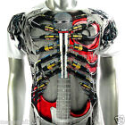 Artful Couture T-Shirt Tattoo Guitar Rock AW42 Sz L XL XXL Graffiti Skate bmx