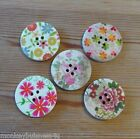Wooden Buttons - Flowers - 30mm - Retro - Cardigans - Summer Coats -Sewing/Cards