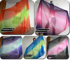 1.5*2.6M POLYESTER COLORFUL BELLY DANCE VEILS free shipping free bag