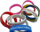 Autism Asperger Syndrome Medical Alert Silicone Wristband