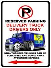 International Durastar Delivery Truck Corona Drink No Parking Sign NEW