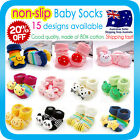 Baby Boys Girls Non-Slip Socks Cotton Booties Shoes Slippers for Newborn Toddler